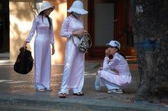 3 въетнамских девушки Стоковое Изображение