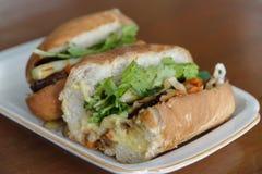 Въетнамское banh mi хлеба стоковое изображение