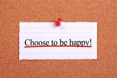 Выберите быть счастливый стоковые фотографии rf