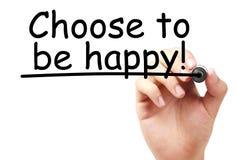 Выберите быть счастливый стоковое изображение rf