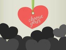 Выберите вашу истинную концепцию влюбленности Стоковые Фото