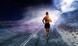 Выберите ваш маршрут для бега Мультимедиа стоковая фотография