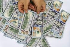 Выберите вверх 100 долларов США стоковое изображение rf