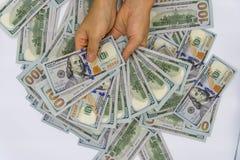 Выберите вверх 100 долларов США стоковая фотография rf