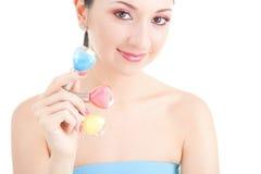 выберите женщину маникюра цвета шикарную стоковое фото rf