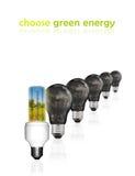 выберите зеленый цвет энергии Стоковая Фотография