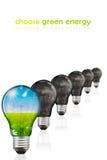выберите зеленый цвет энергии Стоковое Изображение