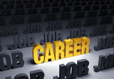 Выберите карьеру, не работу Стоковое Фото