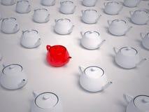 выберите много чайников к которым Стоковое Фото
