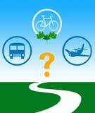 Выберите перевозку eco иллюстрация штока