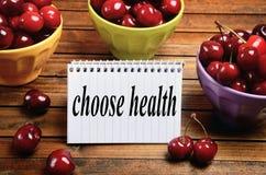 Выберите слово здоровья стоковое фото