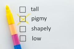 Выберите Pigmy стоковые изображения
