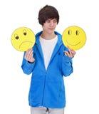 Выбирать быть счастлива стоковое фото rf