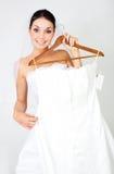 выбирать венчание девушки платья стоковые фотографии rf