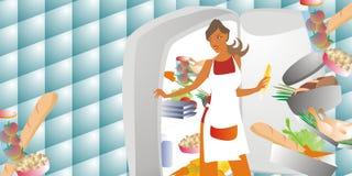 выбирать женщину еды Стоковые Изображения