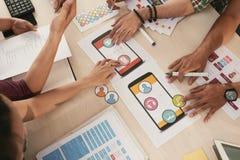 Выбирать значки для передвижного app Стоковая Фотография