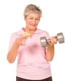 выбирать старую повелительницы тренировки диетпитания возмужалая Стоковое Изображение RF