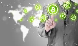 Выбирать bitcoins Стоковая Фотография RF