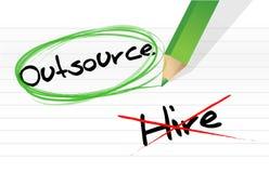 Выбирать Outsource вместо рабочего места Стоковые Изображения RF