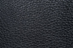 Выбитая черная кожаная текстура, с скачками формами и венами Кожаная текстура Стоковое фото RF