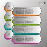 Выбитое infographics в 4 шагах Стоковая Фотография