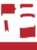 выбитые красные платы Стоковое Изображение RF