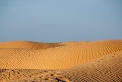 Выбитые дюны в пустыне Стоковое фото RF