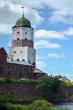 ВЫБОРГ, РОССИЯ: средневековый старый замок в 15-ое июня 2015, ОБЛАСТИ ЛЕНИНГРАДА, России Стоковые Фотографии RF