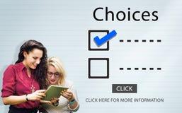 Выборы контрольного списока для того чтобы сделать концепцию оценки проверки стоковое фото rf