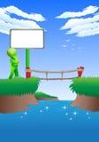 Выборы для того чтобы пересечь мост Стоковые Фотографии RF
