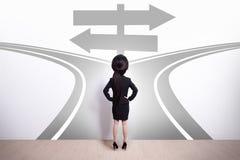 Выбор бизнес-леди Стоковая Фотография