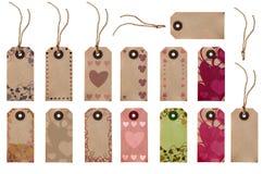 Выбор бирки подарка - сердца влюбленности Стоковое Изображение