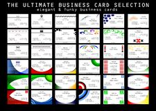 выбор визитной карточки типичный Стоковое фото RF