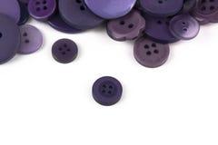 Выбор выбора различных фиолетовых кнопок Стоковое фото RF