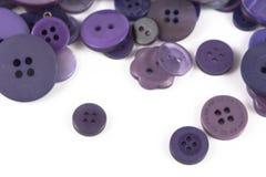 Выбор выбора различных фиолетовых кнопок Стоковое Изображение