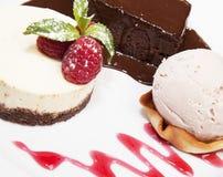 выбор десерта Стоковое фото RF