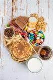 Выбор еды который может причинить диабет Стоковое Изображение