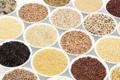 Выбор еды зерна стоковые фото