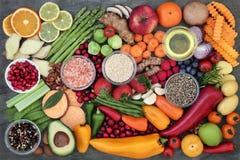 Выбор здоровой еды Стоковые Фотографии RF