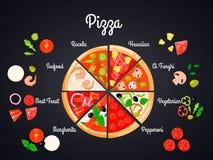 Выбор концепции пиццы Стоковое Фото