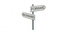 Выбор между передним и ОН назад Стоковое Изображение RF