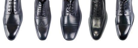 Выбор мужских ботинок изолированных на белизне Стоковая Фотография