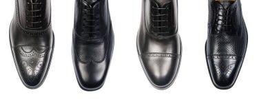 Выбор мужских ботинок изолированных на белизне Стоковые Изображения RF