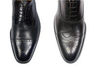 Выбор мужских ботинок изолированных на белизне Стоковые Фотографии RF