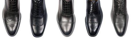 Выбор мужских ботинок изолированных на белизне Стоковые Изображения