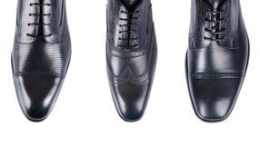 Выбор мужских ботинок изолированных на белизне Стоковое Изображение RF