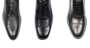 Выбор мужских ботинок изолированных на белизне Стоковое Фото