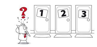 Выбор на двери иллюстрация вектора