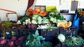 Выбор овощей на рынке в Порту стоковое фото