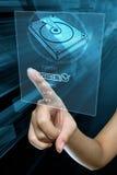 Выбор пальца женщины вариант для того чтобы отремонтировать жёсткий диск Стоковые Изображения